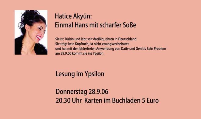 Hatice Akyün einmal Hans mit scharfer Soße